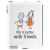 life is better with friends king and queen orange dress crown Tablet