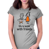 life is better with friends king and queen orange dress crown Womens Fitted T-Shirt