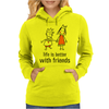 life is better with friends king and queen orange dress crown Womens Hoodie