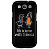 life is better with friends king and queen orange dress white lines crown Phone Case