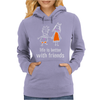 life is better with friends king and queen orange dress white lines crown Womens Hoodie