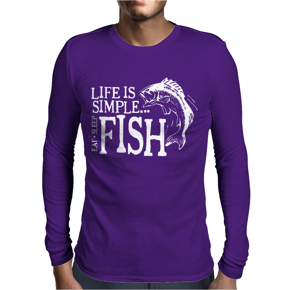 Life is Simple Mens Long Sleeve T-Shirt