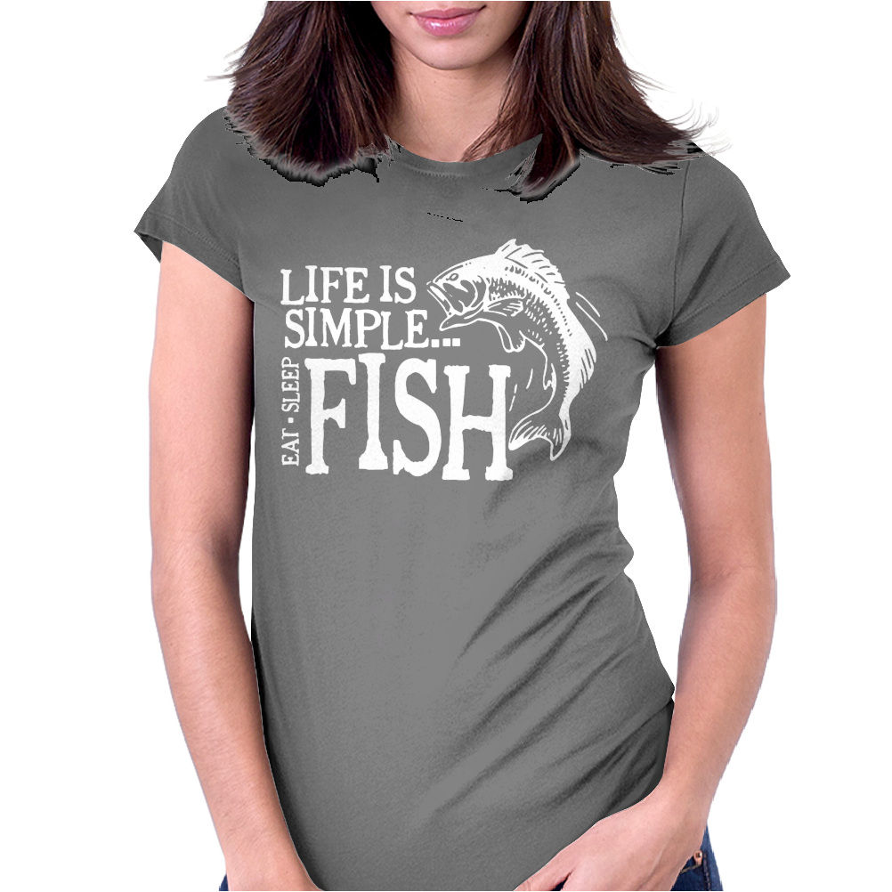 Life is Simple Womens Fitted T-Shirt