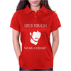 Life Is Tough Wear a Helmet Womens Polo