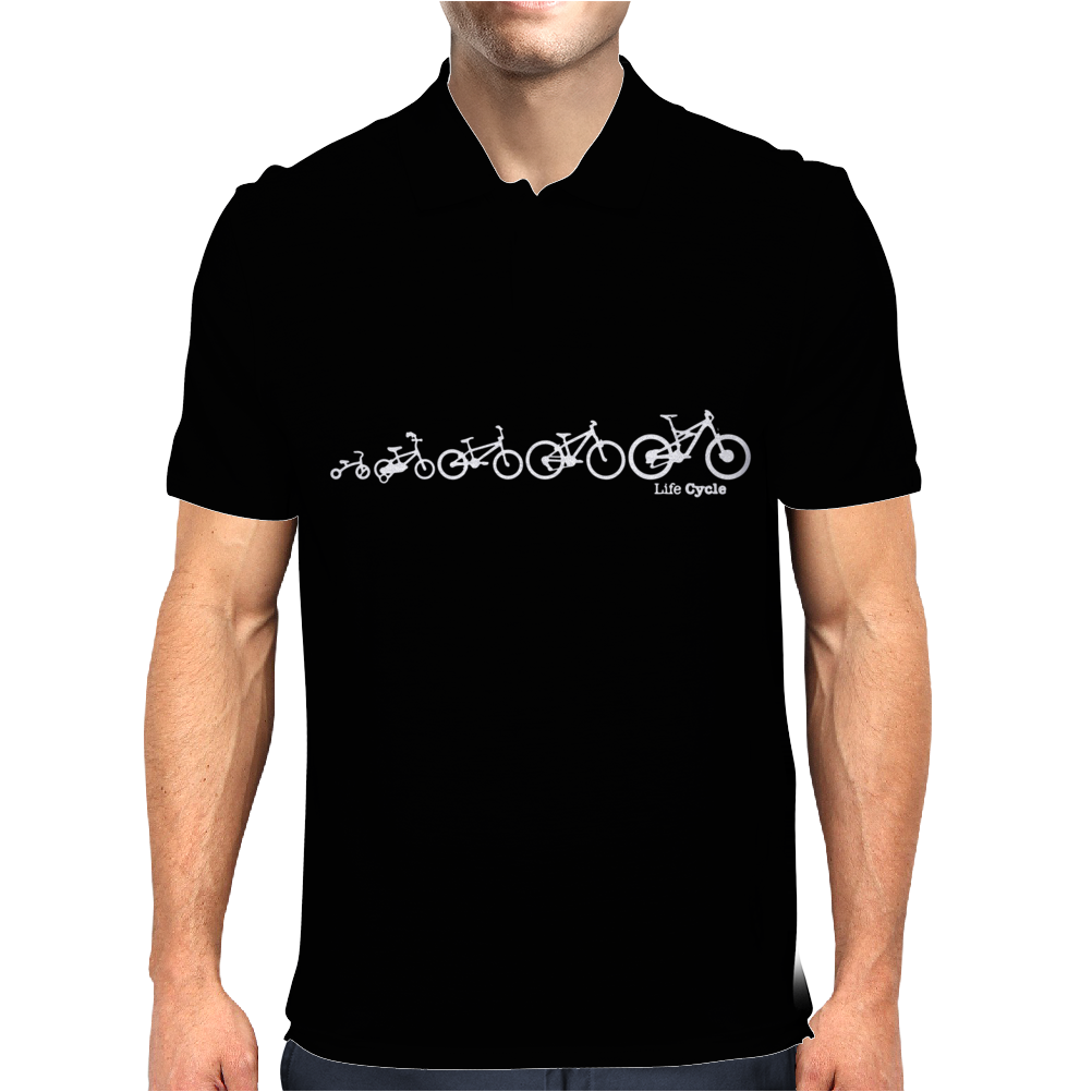 Lifecycle Evolution of the Bike Cycling Mens Polo