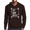 Lift Drop Repeat Mens Hoodie