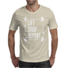 Lift Drop Repeat Mens T-Shirt