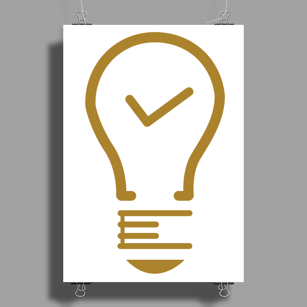Light Tick icon Poster Print (Portrait)