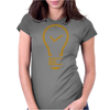 Light Tick icon Womens Fitted T-Shirt