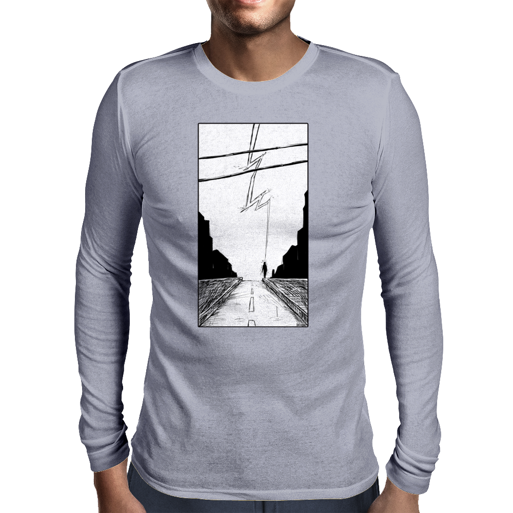 Lightning Mens Long Sleeve T-Shirt
