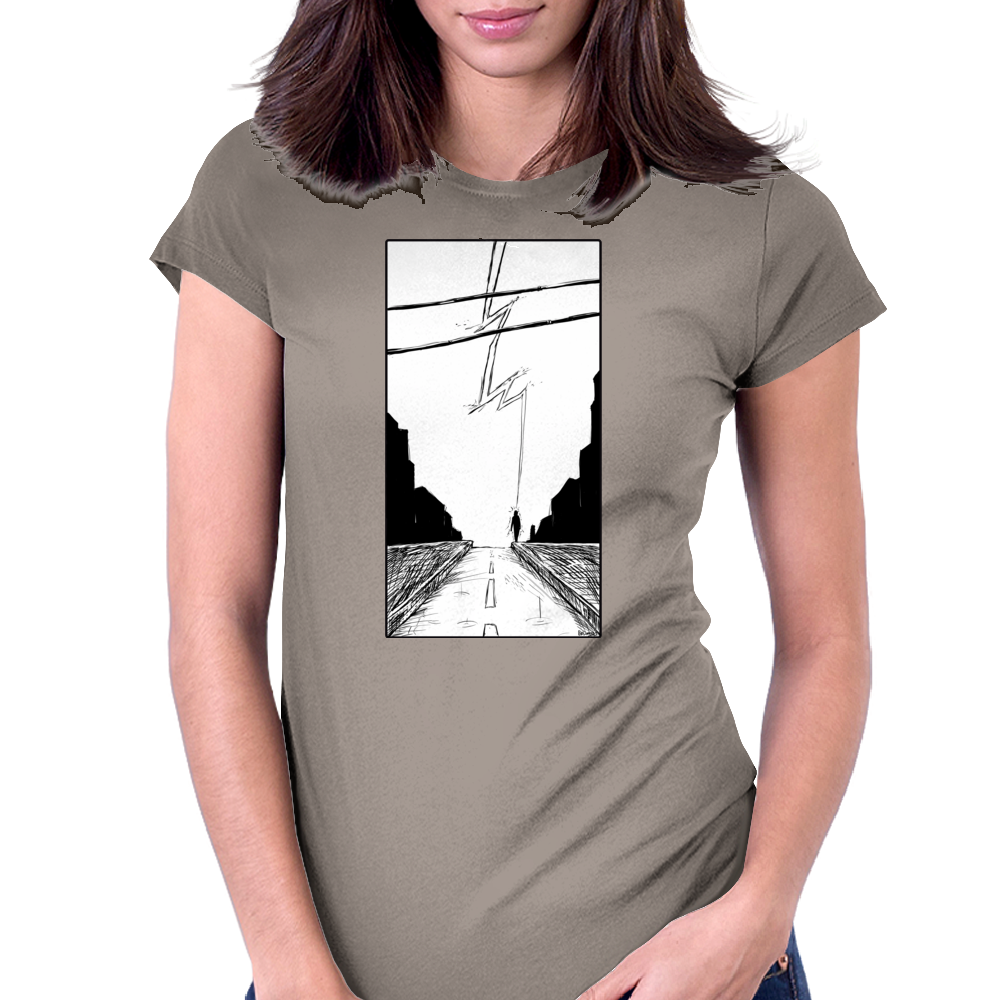 Lightning Womens Fitted T-Shirt