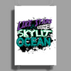 Like Stars Over the Skylit Ocean Poster Print (Portrait)