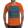 Lilac/Aqua Tribal Pattern Mens T-Shirt