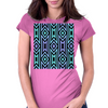 Lilac/Aqua Tribal Pattern Womens Fitted T-Shirt
