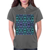 Lilac/Aqua Tribal Pattern Womens Polo