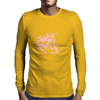 Lion (Bubblegum Pink) Mens Long Sleeve T-Shirt