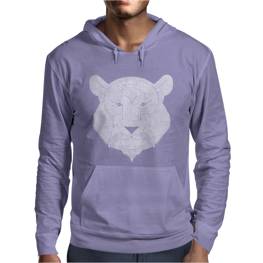 Lion face Mens Hoodie