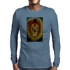 Lion of Judah Word Mosaic Mens Long Sleeve T-Shirt