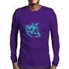 Lion (Turquoise) Mens Long Sleeve T-Shirt