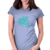 Lion (Turquoise) Womens Fitted T-Shirt