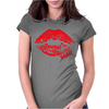 Lips Crop Womens Fitted T-Shirt