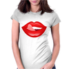 lips Womens Fitted T-Shirt
