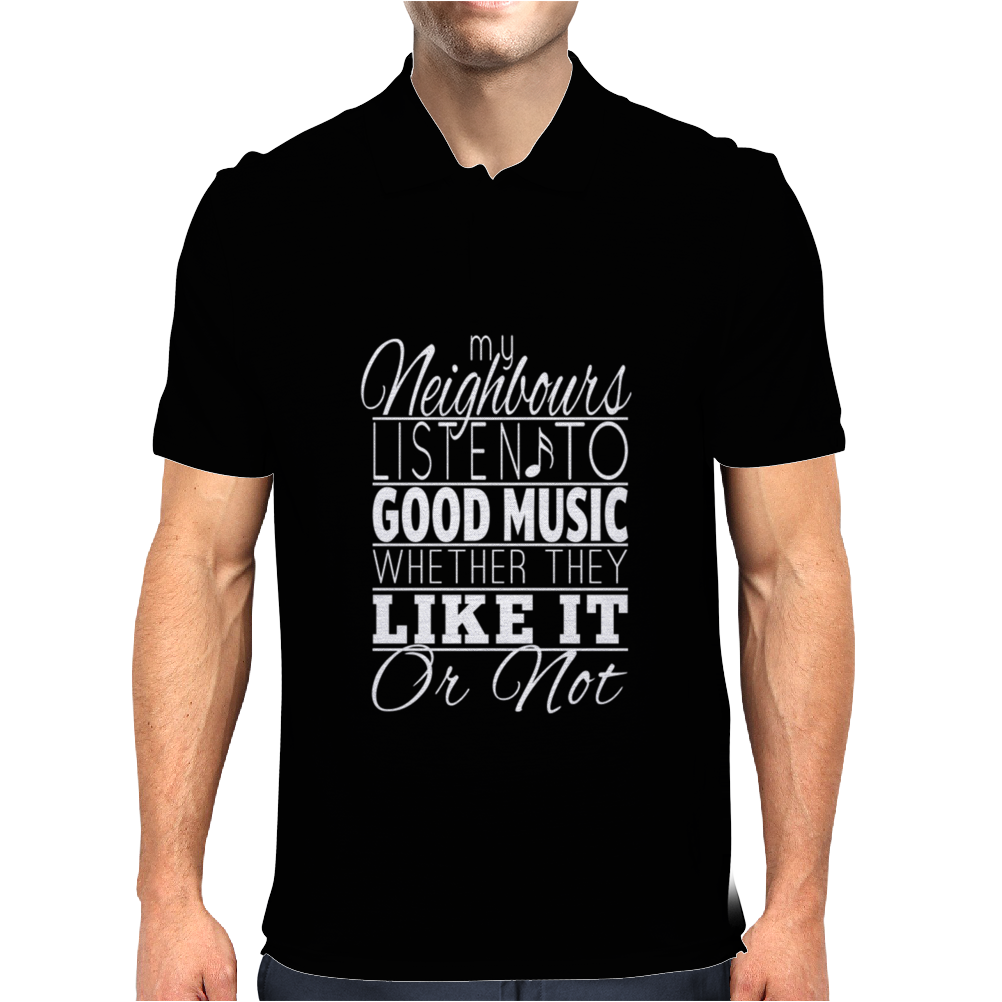 Listen To Music Mens Polo