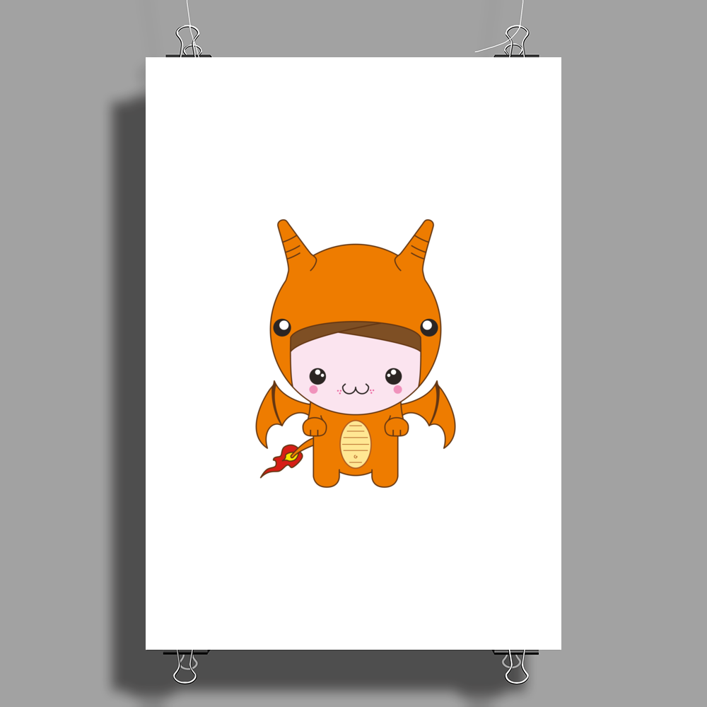 Little Charizard Poster Print (Portrait)
