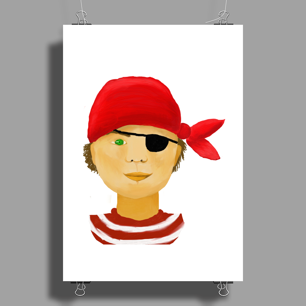 Little Pirate Poster Print (Portrait)
