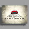 Little Sportsman Red Corvette Poster Print (Landscape)