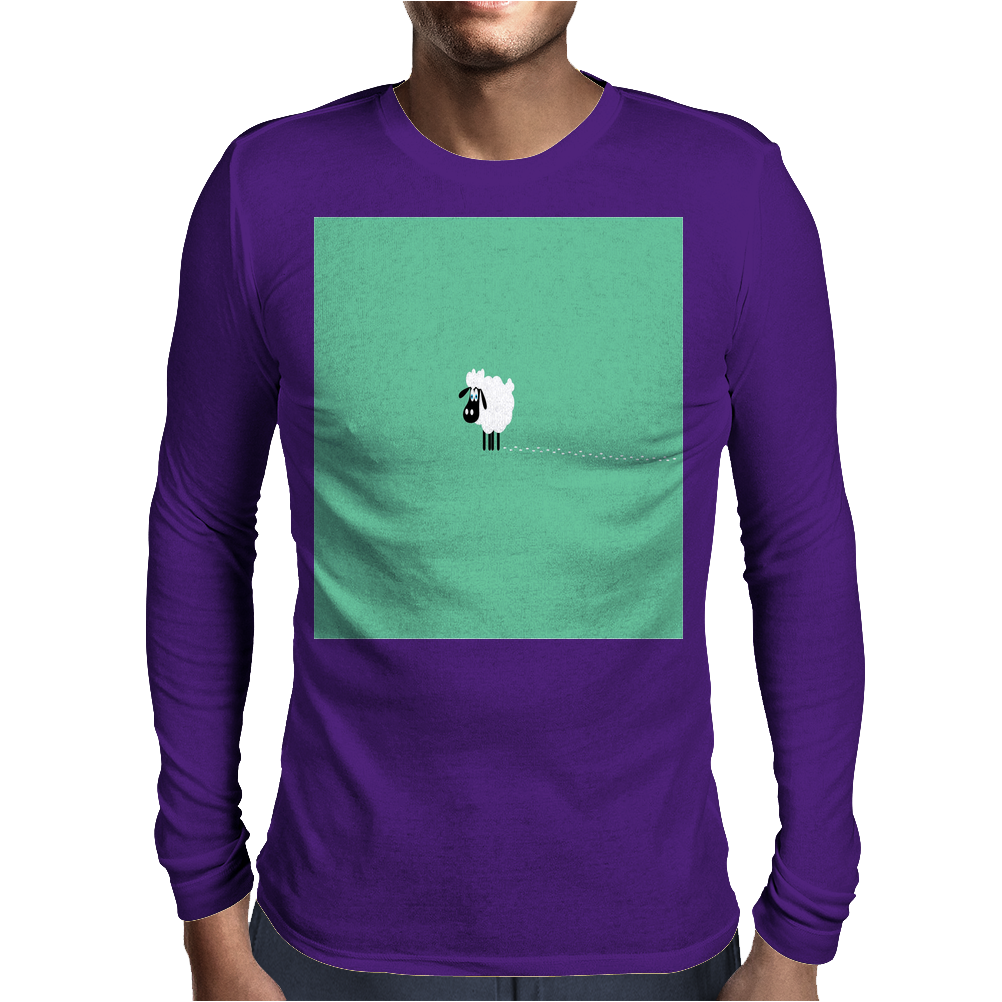 Little Stray Sheep Mens Long Sleeve T-Shirt