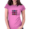 Live Eat Sleep Golf Womens Fitted T-Shirt