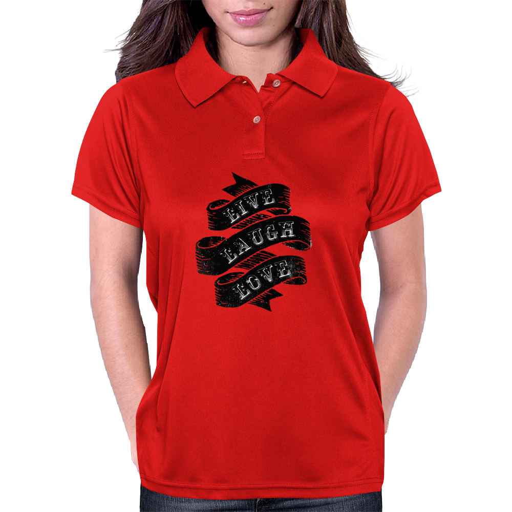 Live, Laugh, Love Womens Polo
