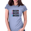 Live Love Drink Beer Womens Fitted T-Shirt