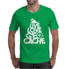 Live love Geocache Mens T-Shirt