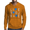 Live Love Rave Edm Music House Electro Mens Hoodie