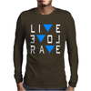 Live Love Rave Edm Music House Electro Mens Long Sleeve T-Shirt