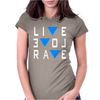 Live Love Rave Edm Music House Electro Womens Fitted T-Shirt