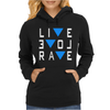 Live Love Rave Edm Music House Electro Womens Hoodie
