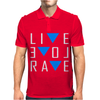 Live Love Rave Mens Polo