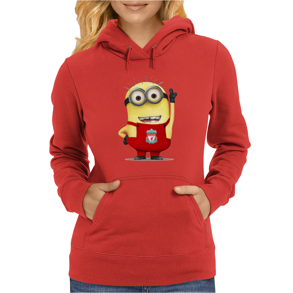 LIVERPOOL MINIONS Movie Despicable Me Football Funny Womens Hoodie