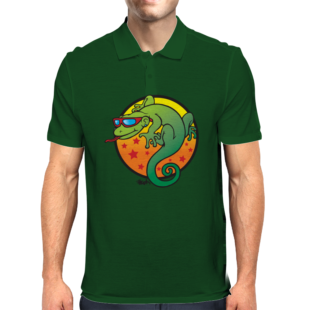 Lizard! Mens Polo