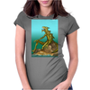 Lizard Monster Womens Fitted T-Shirt