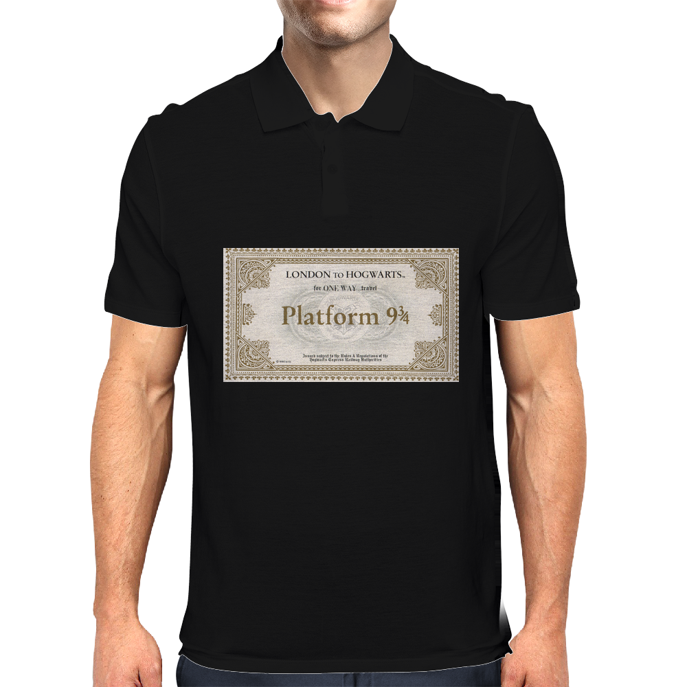 London to Hogwarts, Hogwarts Express Ticket Mens Polo