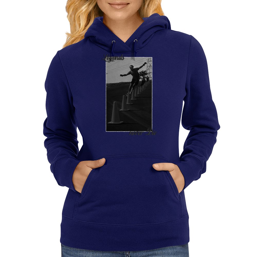 Longboard Legends never Die - Brian Logan Womens Hoodie
