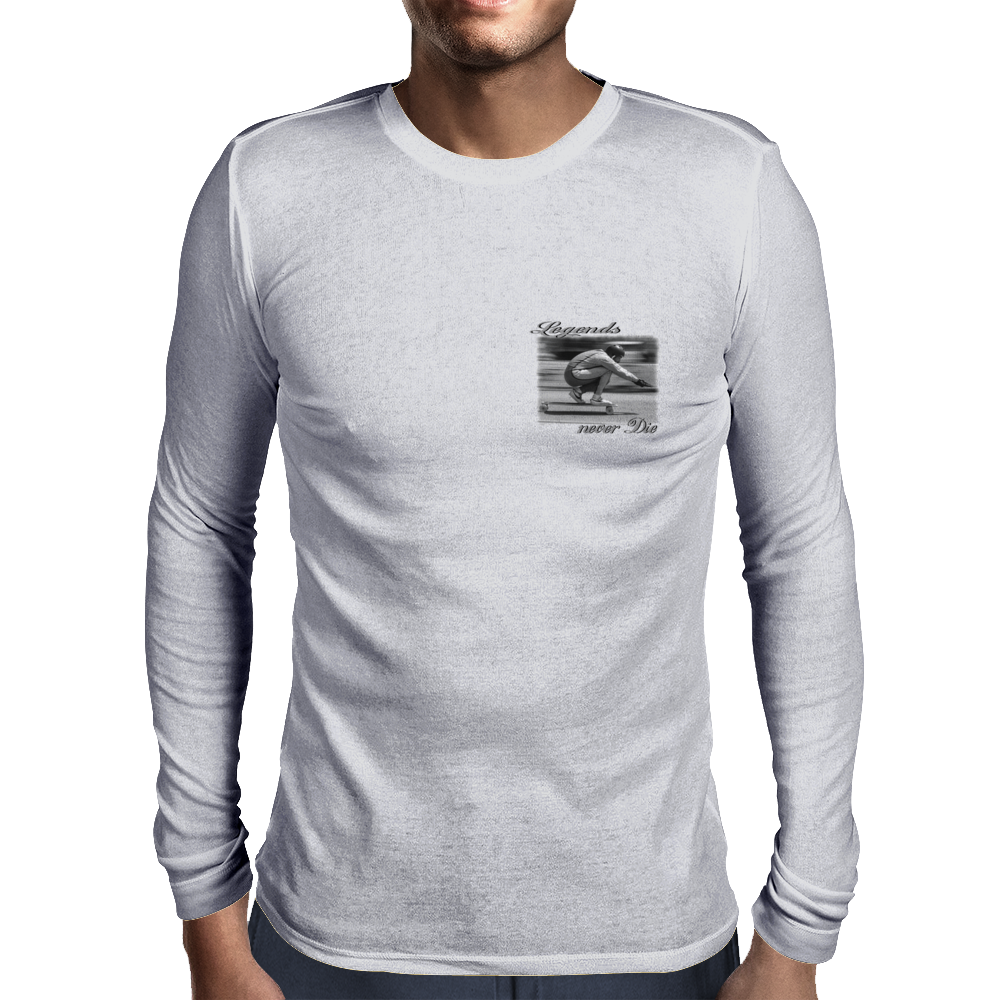 Longboard Legends never Die - Cliff Coleman Mens Long Sleeve T-Shirt