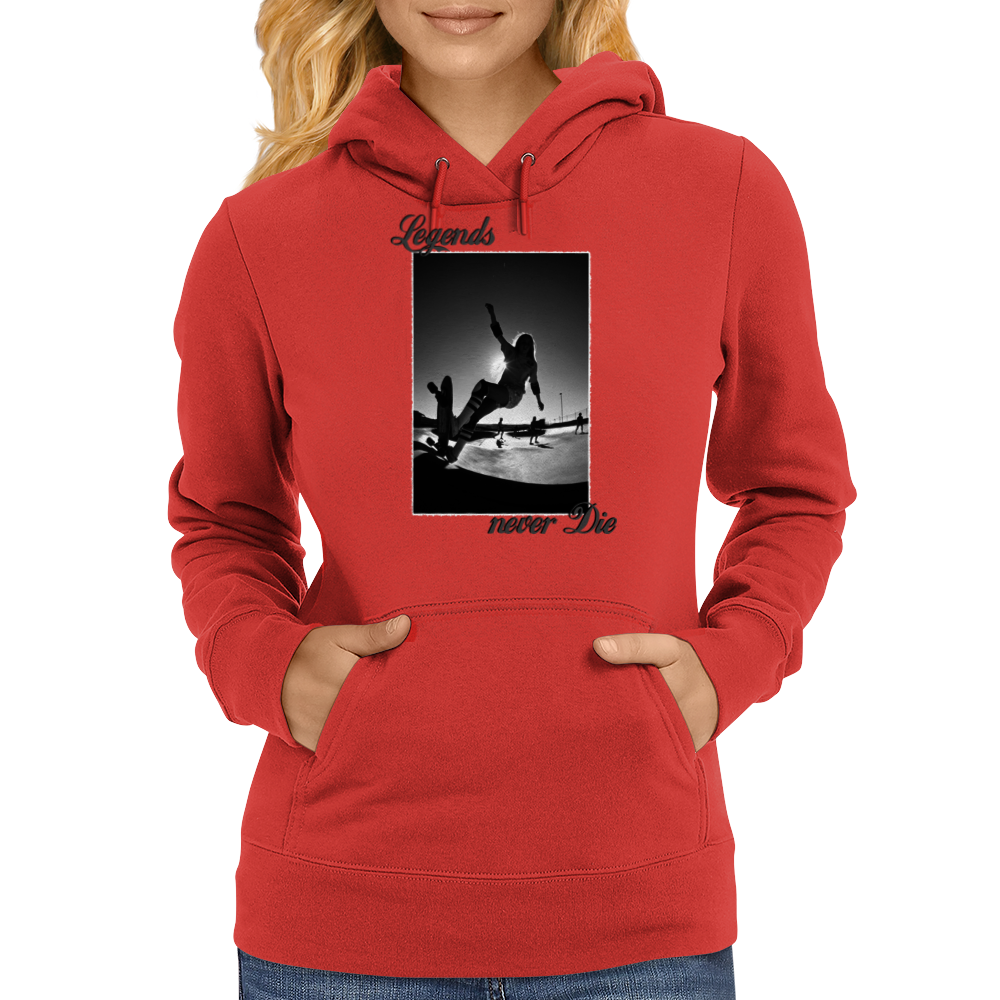 Longboard Legends never Die - Laura Thornhill Womens Hoodie