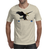 Longboard Skateboard - Eagle on Board with Crown Mens T-Shirt