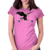 Longboard Skateboard - Eagle on Board with Crown Womens Fitted T-Shirt