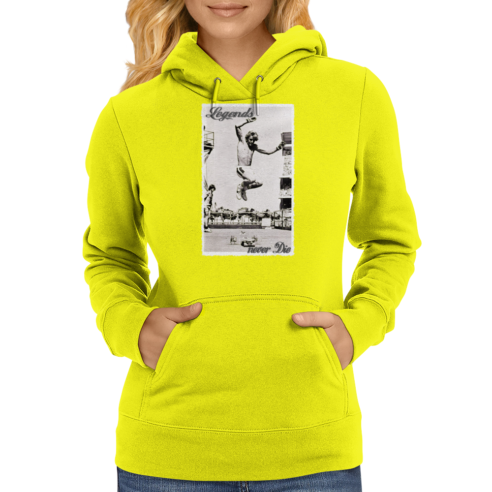 Longboard Skateboard Legends never Die Womens Hoodie